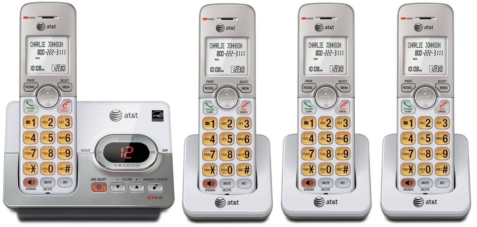 AT&T Landline Set DECT 6.0 Cordless Telephone Portable Wireless Home Phone lot