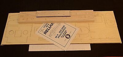 """ROYAL 1/6 Scale STINSON RELIANT SR-8 Laser Cut Short Kit, Plans & Instr. 84.3""""WS"""