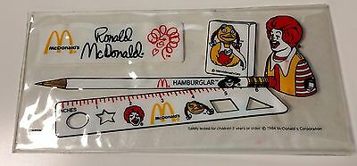 Vintage McDonald's 1984 Pencil ✏️ Case