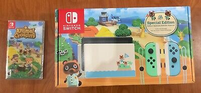 Animal Crossing: New Horizons Nintendo Switch Console Special Edition with Game