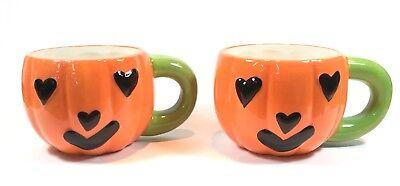 Sandra Halloween 2 (Sandra Magsamen Pumpkin Jack O Lantern Happy Halloween Coffee Mugs Set of)
