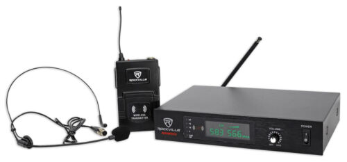 Rockville RWM60U Professional UHF Headset & Guitar Wireless