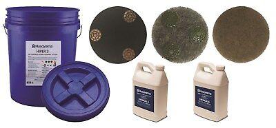 New Husqvarna 590587401 Hiper 3 Diy Concrete Floor Polishing Bucket Kit