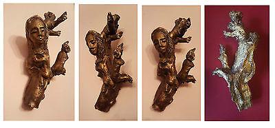 Scultura in legno figura maternità 31x16 cm