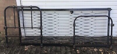 Vintage Cast Iron School/Day Bed With Mattress