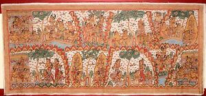 VERY-LARGE-OLD-TRADITIONAL-KAMASAN-BALINESE-RELIGIOUS-PAINTING-ON-CLOTH