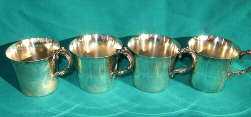 Set 4 silverplate punch cups Wallace