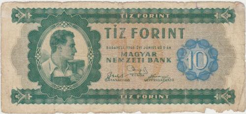 HUNGARY 10 FORINT 1946 USED