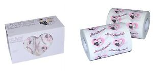 Just Married Toilet Tissue Roll TWO ROLL Pack: Wedding honeymoon Suite favourite
