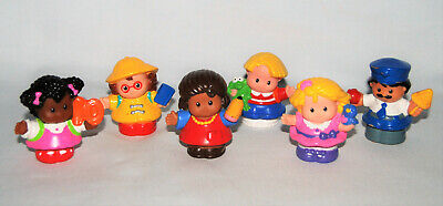 Fisher Price ~ Little People ~ Lot of 6 Figures ~ Time to Learn Preschool ~