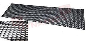 Unpainted JDM Black Plastic HoneyComb Style Bumper Grill Mesh 45