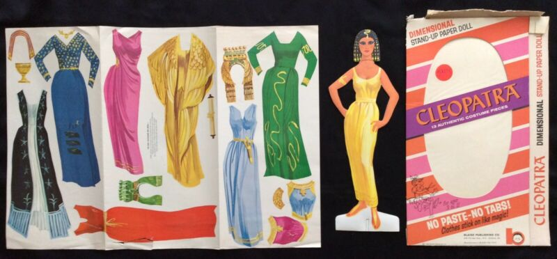 Cleopatra Stand Up Paper Doll, Uncut, 1963