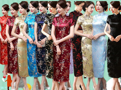 Chinese Women Lady Girl Long Dragon&Phoenix Cheongsam Evening Dress/Qipao S-6XL Phoenix Chinese Dresses