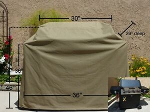 Premium Tight Weave BBQ grill cover up to 36