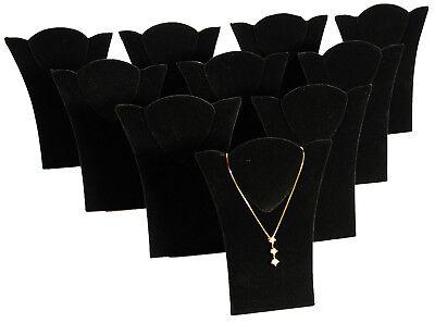 10 New Black Velvet Padded Necklace Pendant Display 6