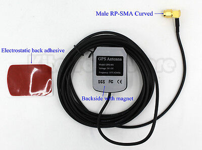US Enhanced 3M GPS antenna navigation positioning Aerial Curved Male RP-SMA