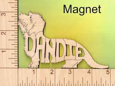 Dandie Dinmont Terrier Dog laser cut and engraved wood Magnet