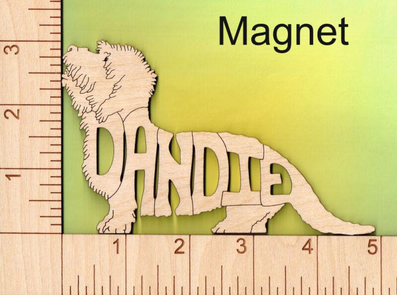 Dandie Dinmont Terrier Dog laser cut wood Magnet Great Gift Idea
