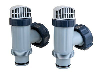 Intex Above Ground Plunger Valves with Gaskets & Nuts Replacement Part (2 -