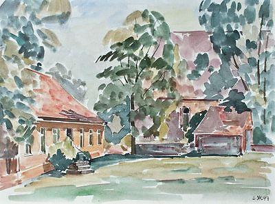 Sonja Wüsten - Schönfließ - Aquarell - 1994