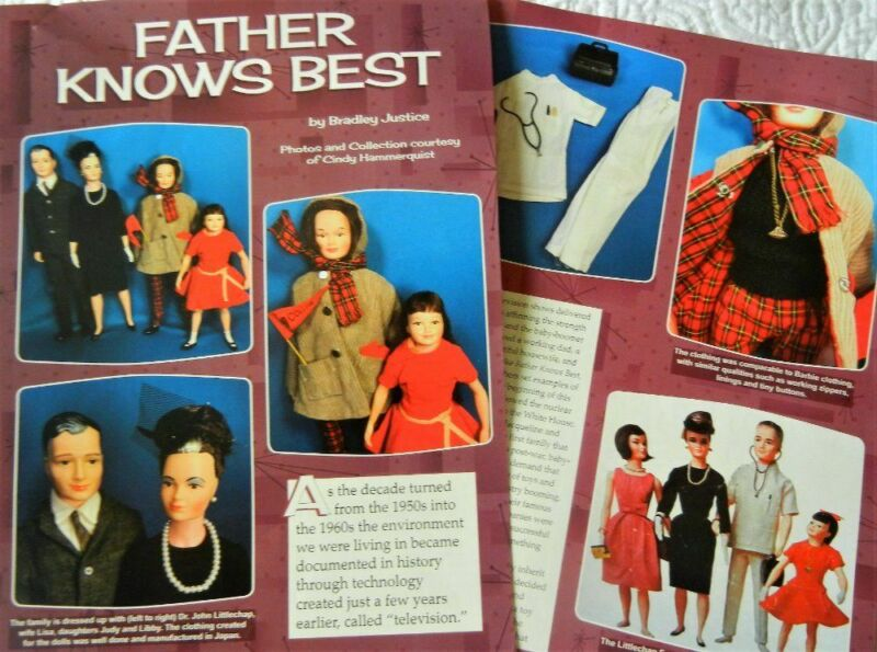 7p History Article + Pics -  VTG Remco Littlechap Doll House Dolls & Furniture