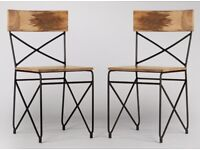 Mango Wood & Iron Dining chairs