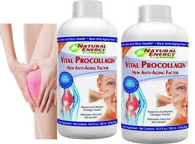 2 Vital Procollagen 16.9 fl oz. Natural Energy NEW LABEL original Natural energy