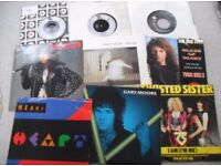SMALL LOT OF 7 INCH ROCK SINGLES FOR SALE. MOSTLY IN VG CONDITION. CHEAP AT £12.00 THE LOT