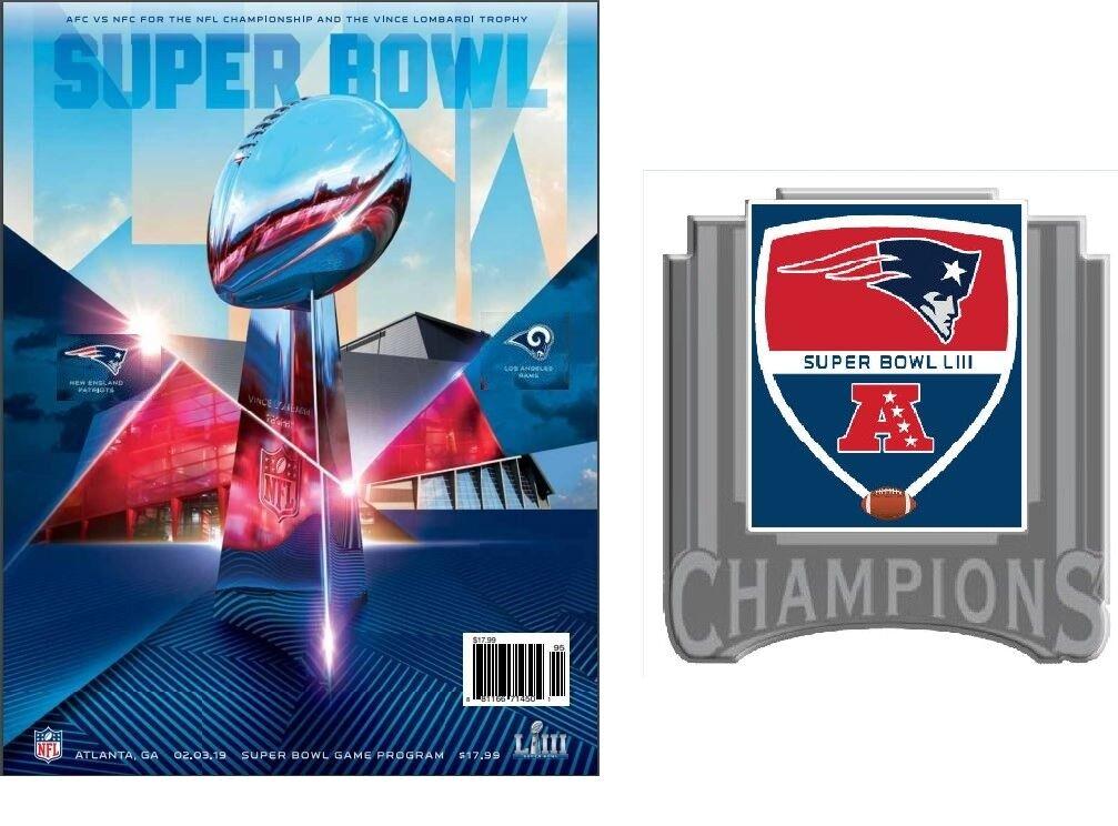 Football 2019 Super Bowl 53 Patriots 6X Champions PIN Superbowl LIII