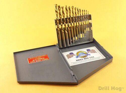 Drill Hog® 13 Left Hand Drill Bits Set Drills Screw Extractor Lifetime Warranty