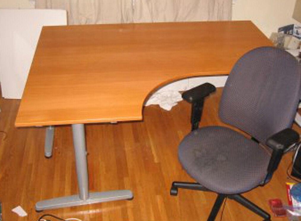 Office Left Angle Corner Desk Ikea Galant With T Legs