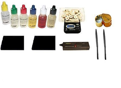Fast Diamond Tester + Precious Metal Test Kit + Digital Scale Stones Loupe Files