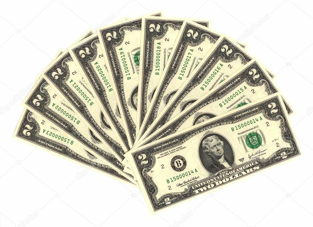 neuf- usa, 10 billets de 2 dollars neuf- numéro consécutifs - livraison gratuite