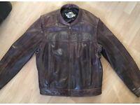 Harley-Davidson Leather Motorcycle Jacket / Vest Brown - Stunning