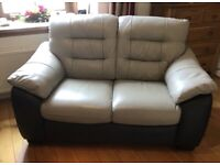 DFS 2 seater leather sofa