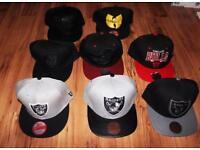 Oakland Raiders Chicago bulls wu Tang Cleveland Cavaliers Mitchell & ness Snapback