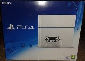 New PlayStation 4 Glacier White 500GB (NO CONTROLLER)