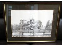 Framed print of a pencil drawing of RIPON CATHEDRAL.
