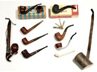 Collection of antique smoking pipes