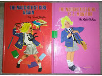 1973 and 1986 VINTAGE Enid Blyton's *The Naughtiest Girl again* & *The Naughtiest Girl is a Monitor*