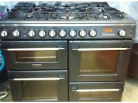 Cannon Range 100cm Gas Cooker - Gas cooker with 2 Gas Ovens and Seperate gas grill