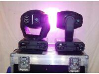 2 Robe 250 XT intelligent wash lights with flight case