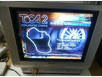 """Aiwa 21"""" CRT TV VHS Combi - Stereo Speakers - Ideal for Retro Gaming !"""