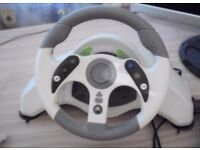 1 x Xbox 360 Steering Wheel and Pedals - USED