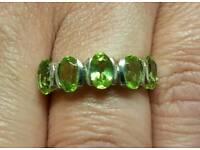 5 stone peridot ring