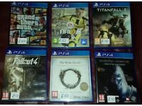 Ps 4 games, all mint condition
