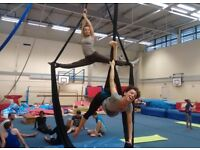 Aerial Silks Classes for all levels at Southwark Gymnastics Club