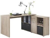 LEXA Corner Home Office Computer Desk Finished In Oak 4 Different Build