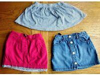 Girls GAP, JOJO MAMAN BEBE skirts size 3 years.