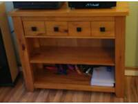 Next Solid Wooden side unit with drawers